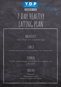 Healthy Eating Plan - Day 1